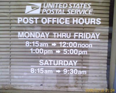 What Time Does The Post Office Open