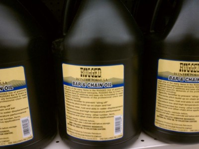 Chain oil in the grocery store.